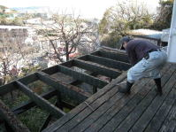 ウッドデッキ、テラス解体工事